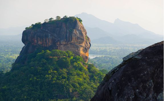 sigiriya from the distance
