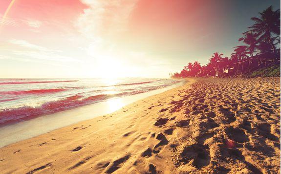 sunset sand sky