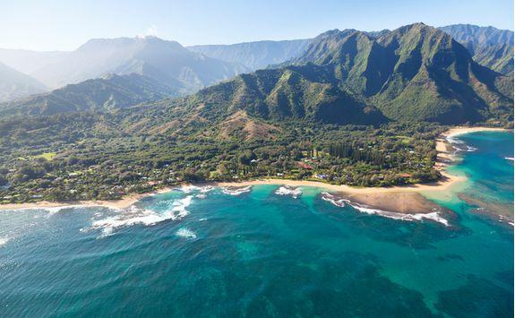 Northern coastline in Kauai