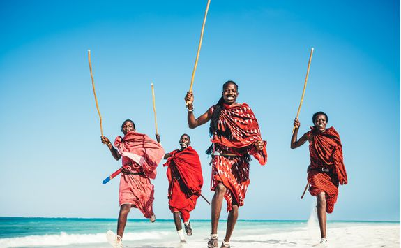 masai people beach