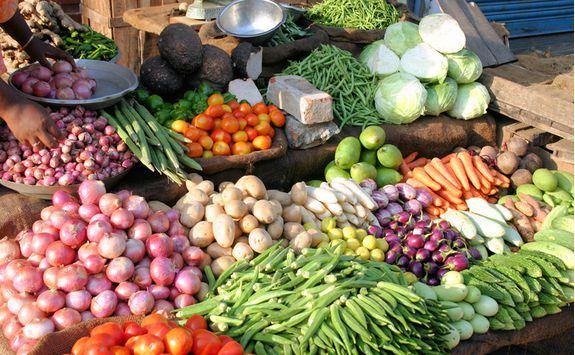 Chennai market vegetables