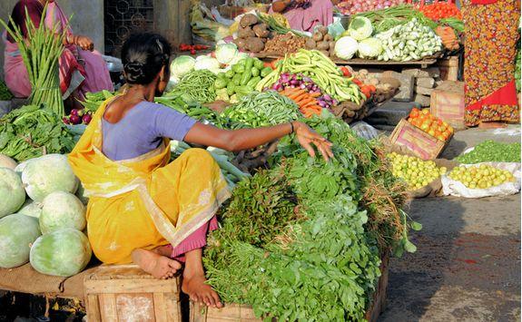 Chennai market street vendor