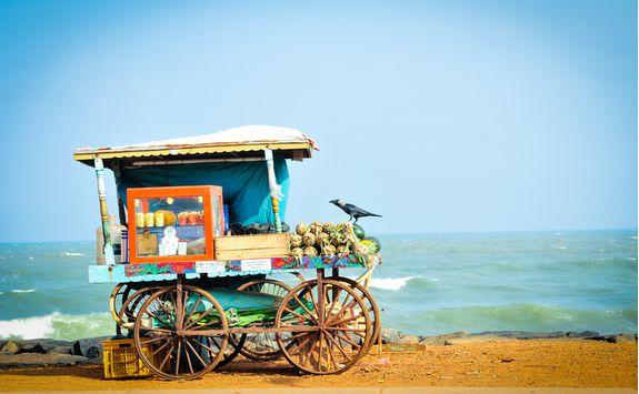Pondicherry fruit cart