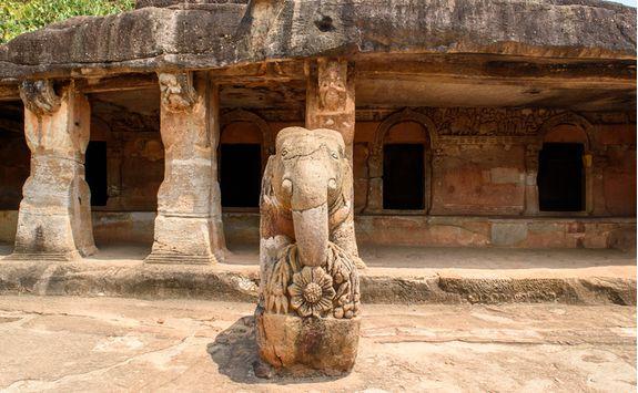 Jain caves outside Madurai