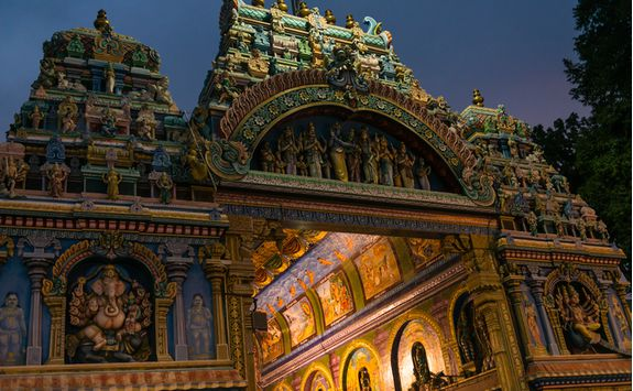 Meenakshi Temple at night