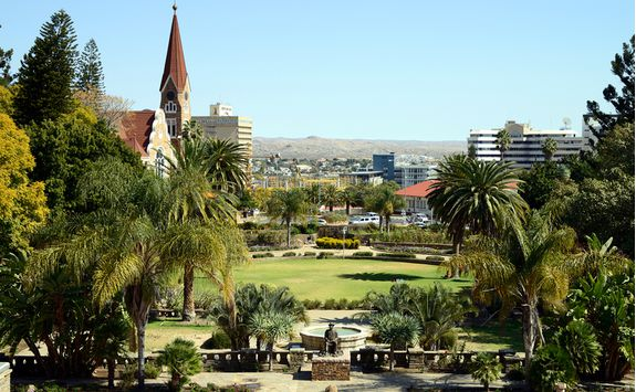 A sunny park in Windhoek