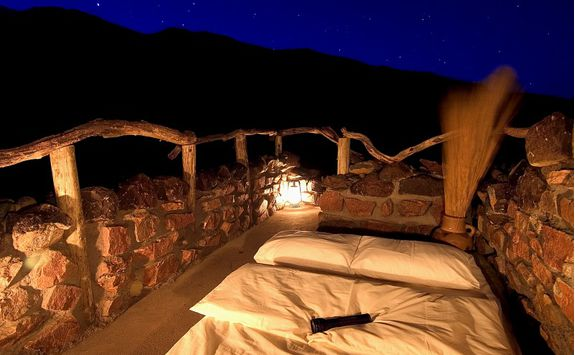 Sleeping outdoors below the stars