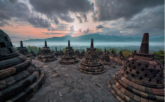 A view from Borobudur
