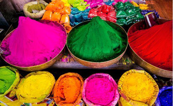 jaipur market coloured dye