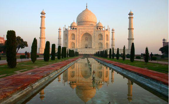 Taj Mahal and gardens