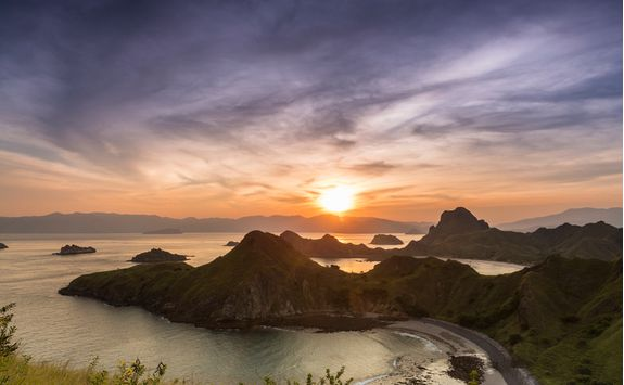 Sunset over Komodo National Park