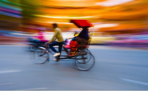 A rickshaw tour in Delhi