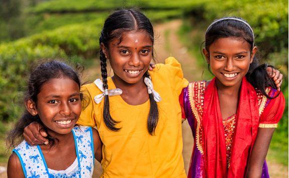 Children in the tea hills