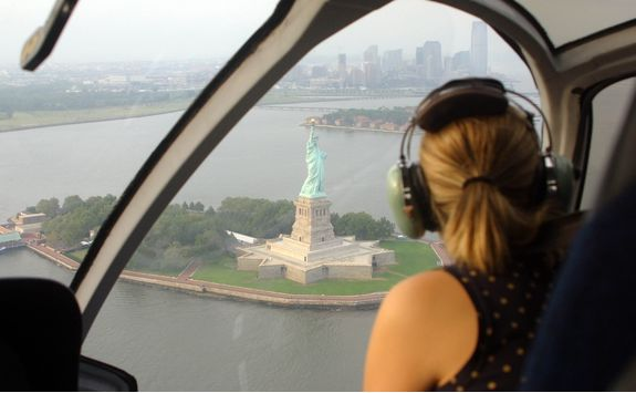 Helicopter ride over New York