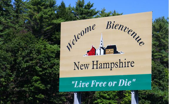 New Hampshire sign
