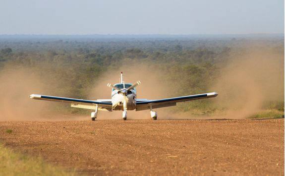light aircraft landing in katavi