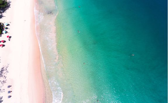 Paradise beach from above