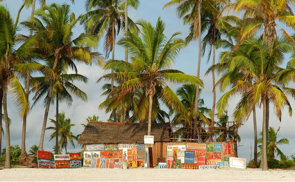 Colourful decoration on the Tanzania coast