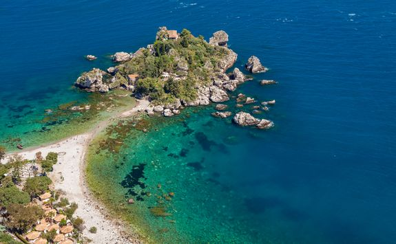 The coast at Taormina