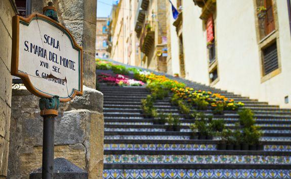 Stairs in Taormina