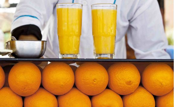 morocco marrakech orange juice