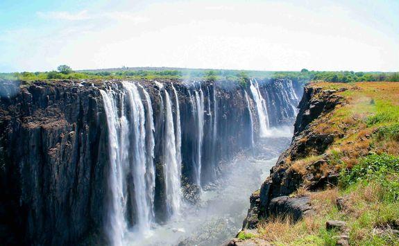Victoria Falls at the Zimbabwe Zambia border