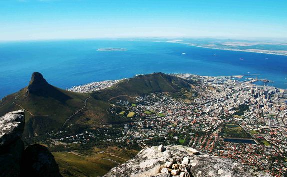 View from the top of Table Mountain