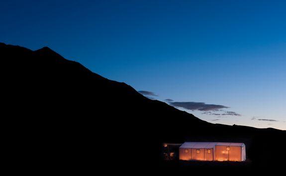 Dar Ahla, Desert Camp at night
