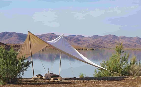 Lakeside picnic at Dar Ahlam