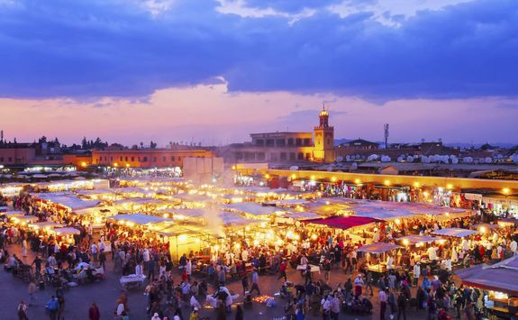 Djemaa el-Fna by night, Marrakech