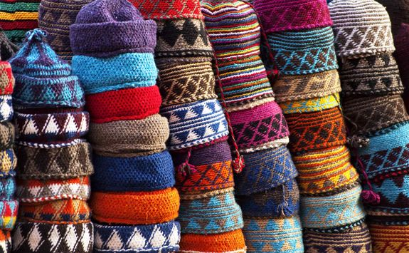 Hats in Moroccan market