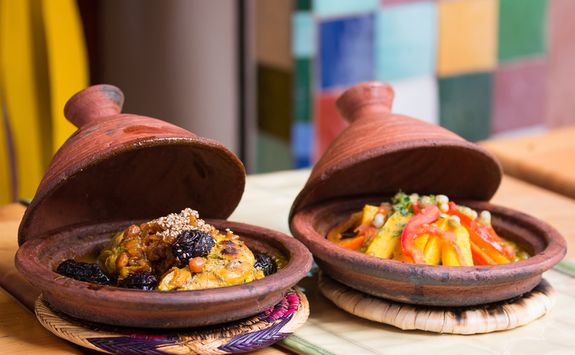 Traditional Moroccan dishes