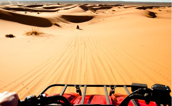 Quad biking in the Moroccan desert