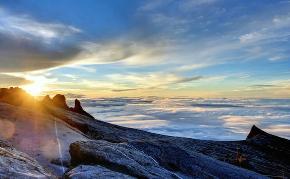 Sunrise from the summit of Mount Kinabalu
