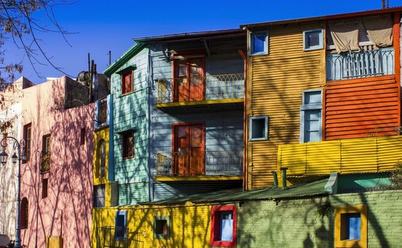 Colorful houses in Buenos Aires