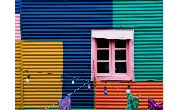 Colorful building in Buenos Aires