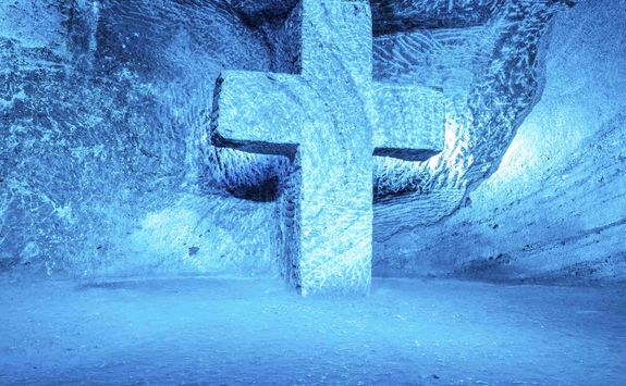 Cross in the Salt Cathedral