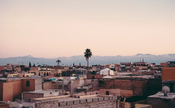 Rooftop view over Marrakech