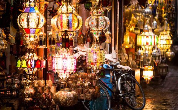 Lantern in market