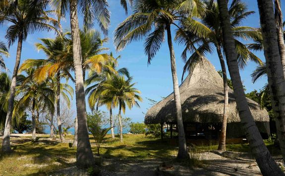 Tropical paradise in the Rosario Islands