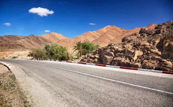 Road to Atlas Mountains
