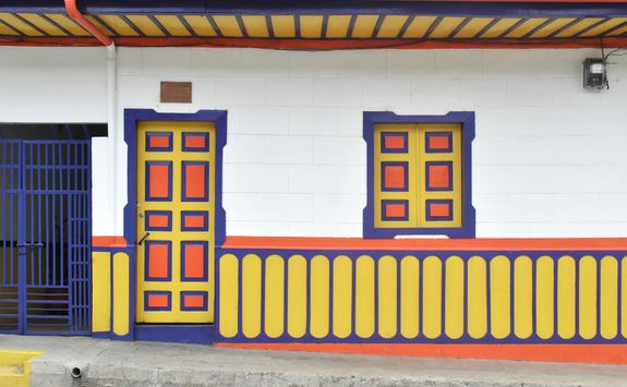 Colourful buildings in Salento