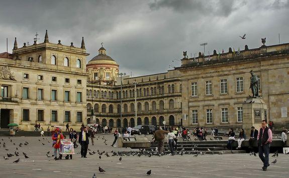 The main square in Bogota
