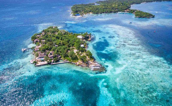 Aerial of the Rosario Islands