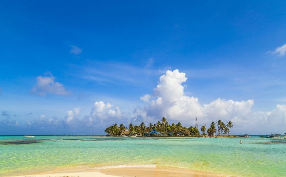 Tropical island of San Andres