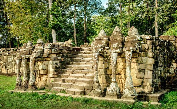 Elephants terrace Angkor