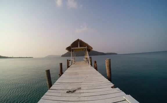 Pier at the beach in Koh Rong
