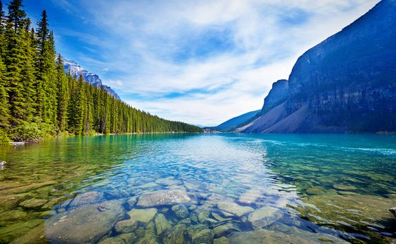 Emerald lake water