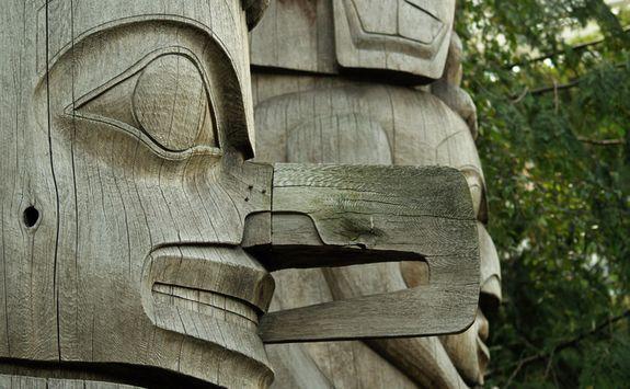 Wooden totem
