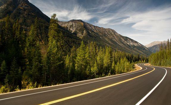 Mountain road in Alberta